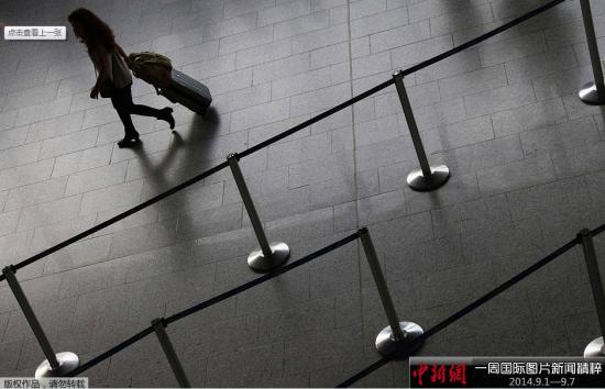 9月5日,德国法兰克福,德国汉莎航空公司飞行员进行为时6小时的警告罢工。机场显得一片空空荡荡。