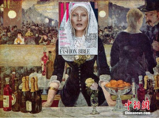 近日,来自菲律宾的28岁多媒体制片人Eisen Bernard Bernardo巧妙的将杂志封面上的名星脸部与世界经典名画完美拼合。一下子就把时尚娱乐界名星变成了精神层面的高大上艺术,而且毫无违和感。图片来源:东方IC 版权作品 请勿转载