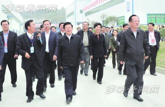 10月16日,省委书记赵克志率2014年全省第三次项目建设现场观摩会代表来到贵阳综合保税区。