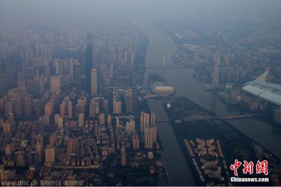 北京到广州航班上拍摄南北雾霾--贵州新闻网::中国社