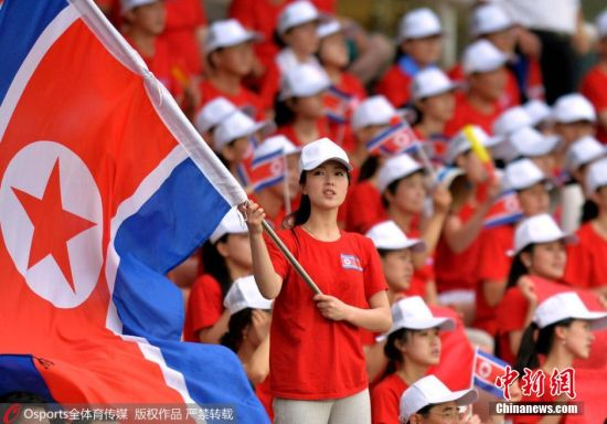 朝鲜美女啦啦队防控开展东亚杯--贵州新闻网惊艳活动亮相宣传流行性感冒图片