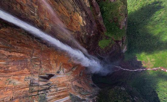 委内瑞拉的天使瀑布。 图片来源:环球网