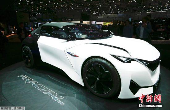 标致Fractal概念车亮相。