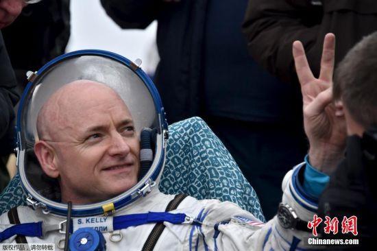 此次返回地球的美国宇航局宇航员斯科特・凯利凭借340天的纪录,成为单次逗留太空时间最长的美国宇航员。