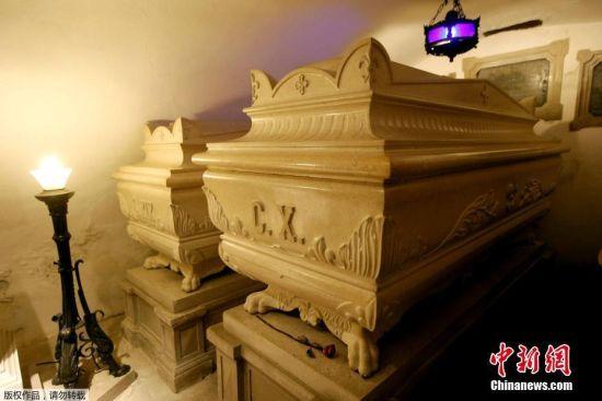 当地时间10月11日,斯洛文尼亚新戈里察,法国国王查理十世的墓室曝光。