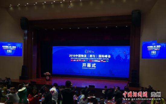 2016中国物流(都匀)国际峰会开幕式现场