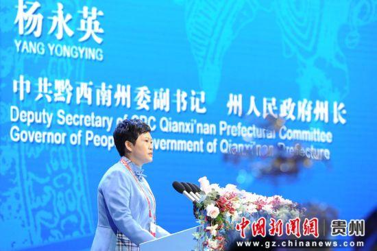 中共黔西南州委副书记、州政府州长杨永英。