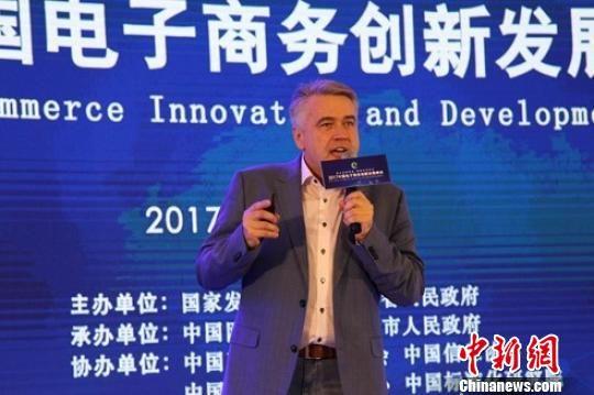 俄罗斯跨境电子商务协会主席Igor Subow 周燕玲 摄