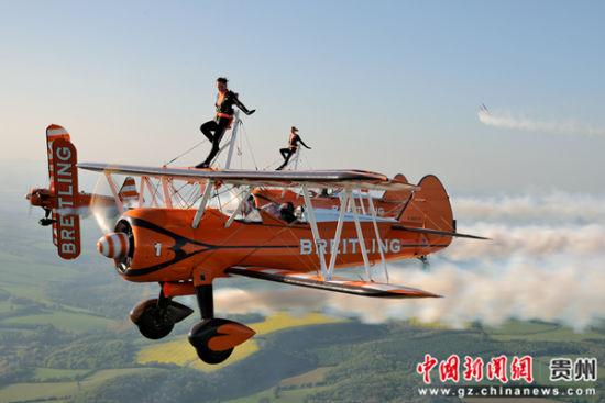 图为当地飞行表演现场。黄平县宣传部供图