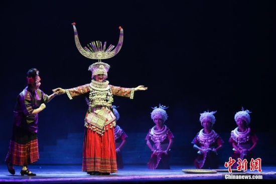 苗族舞蹈led背景素材