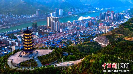 沿河县城风光。