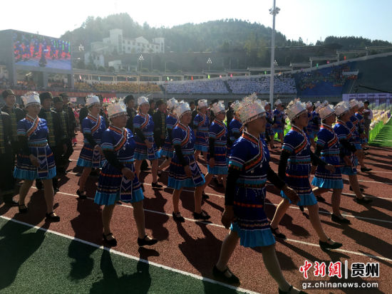 中国土家山歌之乡代表队。