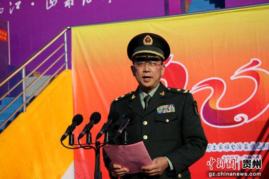 沿河籍在外工作的乡友、贵州省委原常委、省军区原司令员王盛槐。