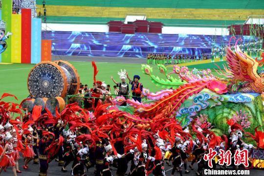 中国唯一水族自治县三都县举行60周年县庆。 黄庆松 摄