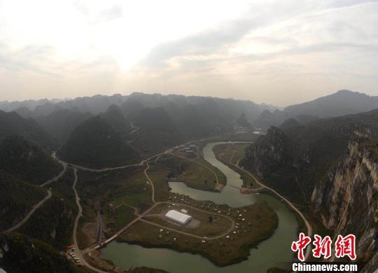 贵州安龙县国家山地户外运动示范公园。 刘鹏 摄