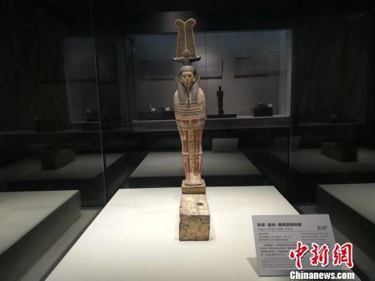 """展品""""布塔―赛克―奥西里斯神像"""" 冷桂玉 摄"""