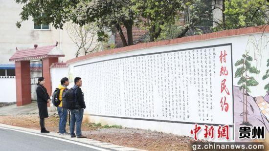贵州玉屏五彩墙画映乡村