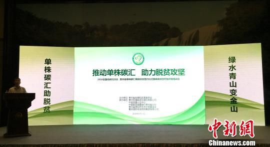 贵州省单株碳汇精准扶贫试点正式启动