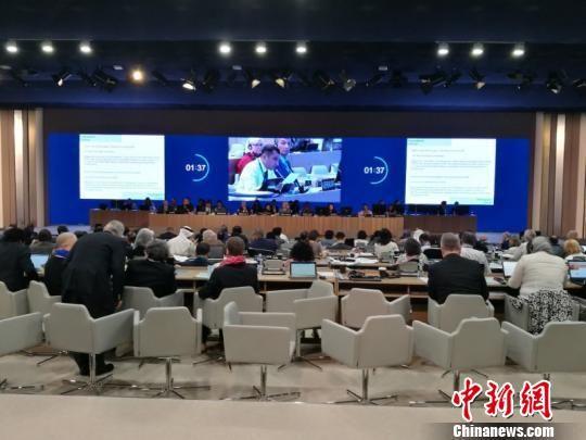 梵净山申遗现场图片。贵州省参加第42届世界遗产大会工作团供图