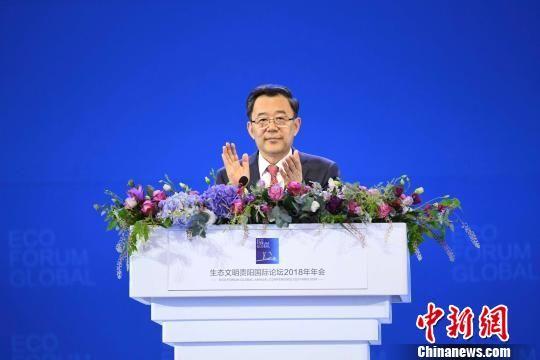 贵州省委书记、省人大常委会主任孙志刚出席本届论坛年会并致辞。 杨玛尔 摄
