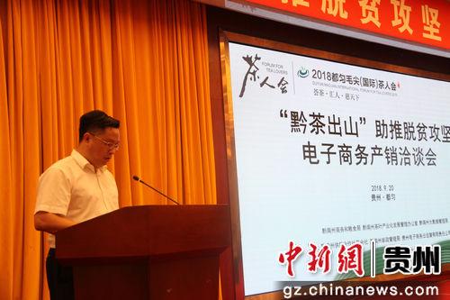 图为黔南州人民政府副州长杨从明致辞。文勇 摄