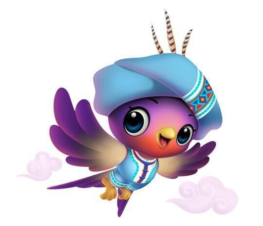 吉祥物:阿紫。紫云宣传部供图