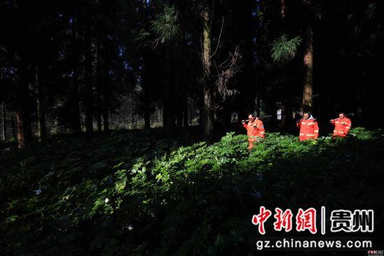 1月3日,张建、张忠、张华三兄弟在贵州省毕节市七星关区拱拢坪林场护林巡山。王纯亮