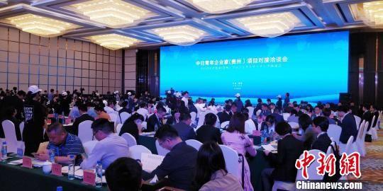 图为中日青年企业家(贵州)项目对联系谈会现场。 曾实 摄
