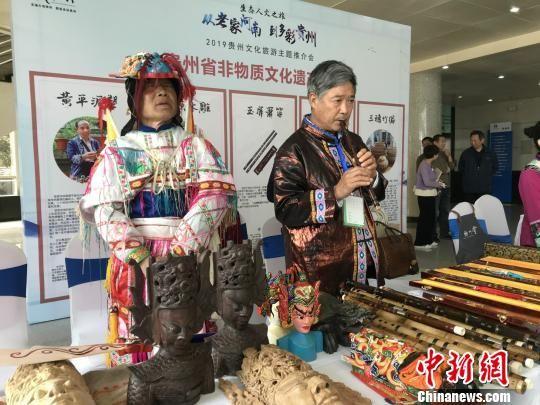 图为贵州非物质文化遗产传承人带来了非遗活态技艺展示。 韩章云 摄