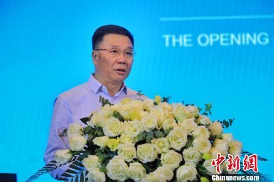茅台集团党委书记、董事长、总经理李保芳致辞。茅台集团供图