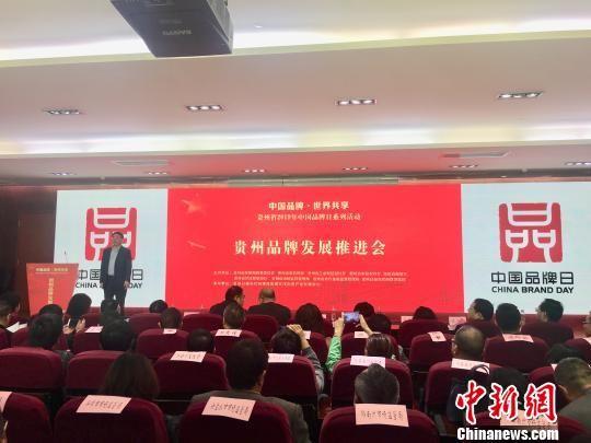 贵州举行品牌发展推进会发布了该省品牌建设最新成果。 刘鹏 摄