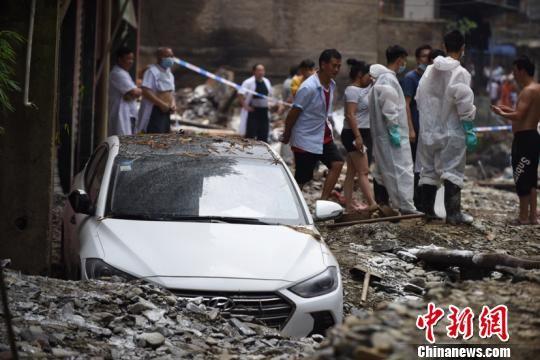贵州沿河县灾后处置工作有序进行。沿河县委宣传部供图