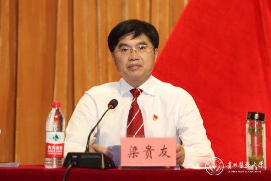 贵州医科大学校长梁贵友主持此次活动。