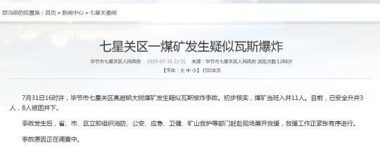 毕节市七星关区人民政府网截图