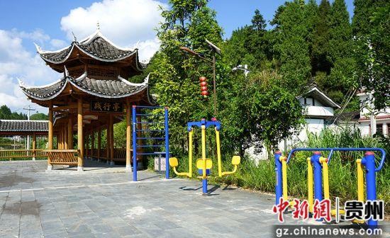 江元哨文化广场一角。