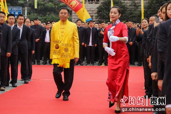 茅台集团党委书记、董事长李保芳入场